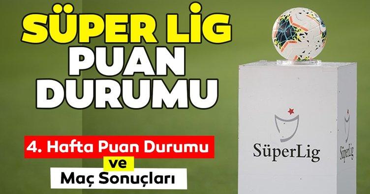 Süper Lig Puan Durumu: TFF ile güncel Süper Lig Puan Durumu sıralaması tablosu nasıl? - 4. Hafta maç sonuçları ve 5. hafta fikstürü