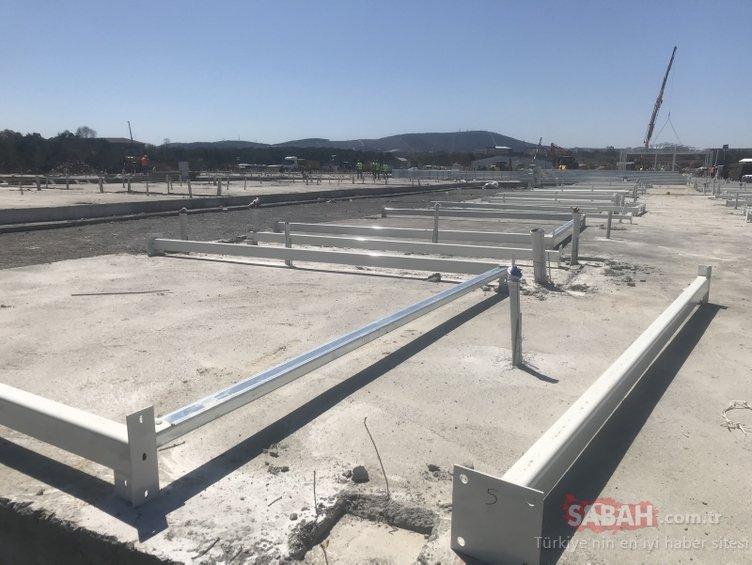 Sancaktepe'de yapılan hastanenin bölümleri ortaya çıkmaya başladı! Çalışmalar 7/24 sürüyor...