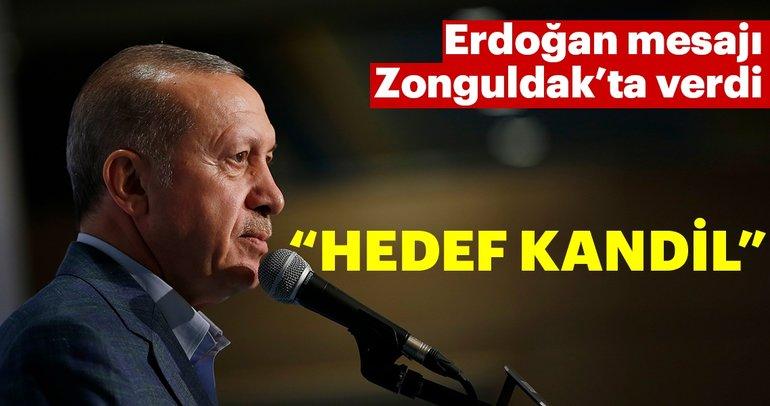 Cumhurbaşkanı Erdoğan: Hedef Kandil
