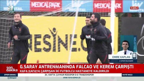 Galatasaray'da Falcao ve Kerem Aktürkoğlu hastaneye kaldırıldı!