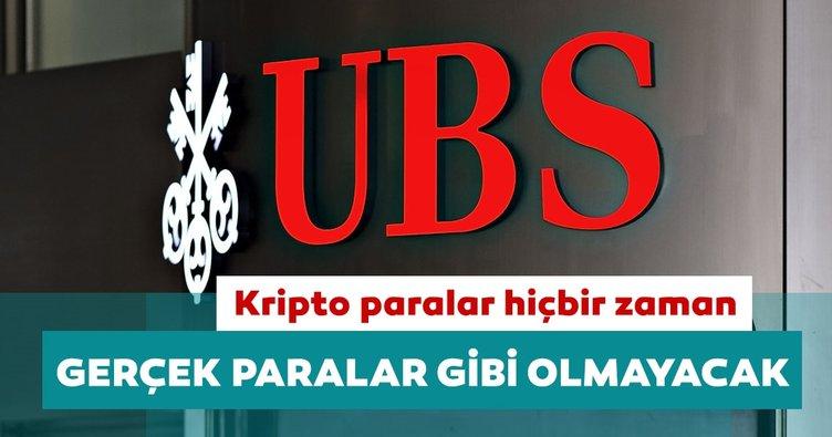 UBS: Kripto paralar hiçbir zaman gerçek paralar gibi olmayacak