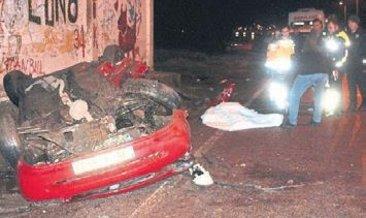 Otomobil takla attı: 1 kisi öldü