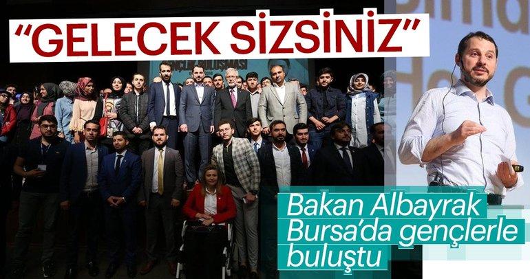 Enerji ve Tabii Kaynaklar Bakanı Berat Albayrak Bursa'da gençlerle bir araya geldi