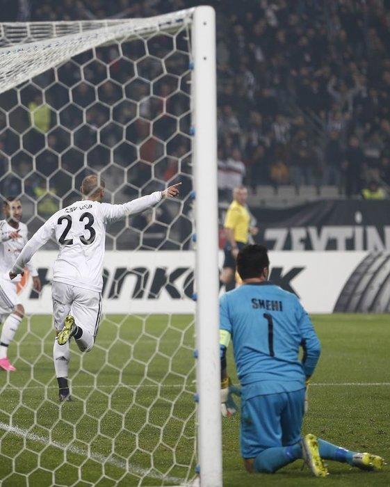 Beşiktaş-Skenderbeu maçından kareler