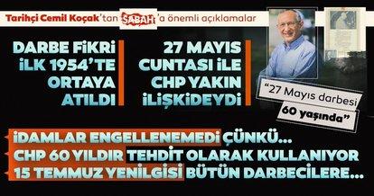 Tarihçi Dr. Cemil Koçak'tan 27 Mayıs darbesi hakkında çarpıcı açıklamalar