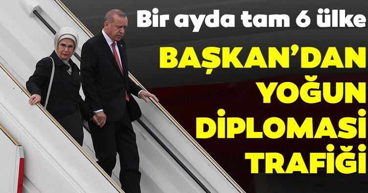 Başkan Erdoğan'dan yoğun diplomasi trafiği! Bir ayda altı ülkeye ziyaret