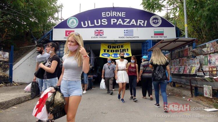 Bulgarlar akın ediyordu! Edirne'deki Ulus Pazarı 2 hafta açılmayacak