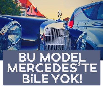 Mercedes, Mercedes olalı böyle bir model üretmedi! Dünyada başka bir eşi daha yok!