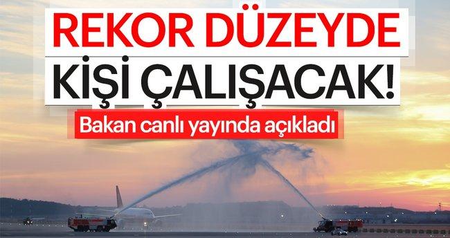 Son dakika! Bakan Ahmet Arslan: İstanbul Yeni Havalimanı'nda 225 bin kişi çalışacak