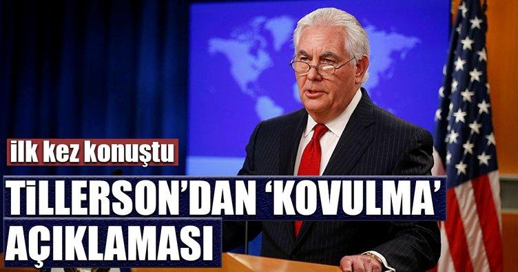 Tillerson'dan ilk açıklama geldi