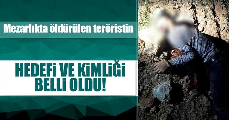 Mezarlıkta öldürülen teröristin kimliği belli oldu