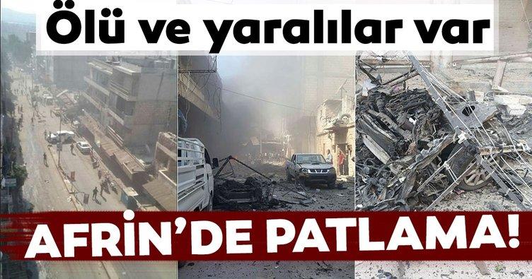 Son Dakika: Afrin'de bombalı saldırı: 13 sivil yaralandı