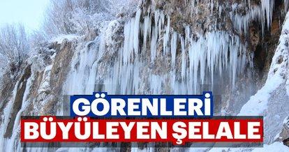 Erzincan'da görenleri büyüleyen şelale