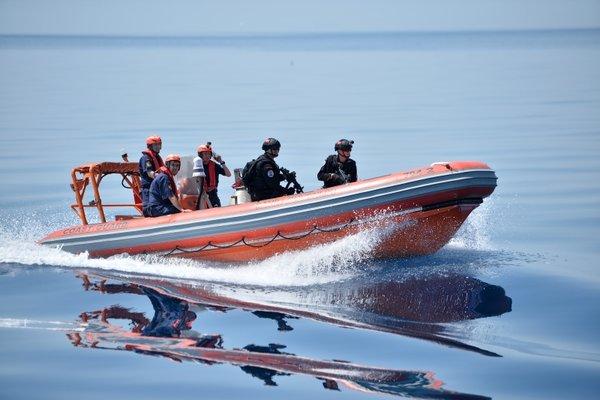 Sahil güvenlikten Mersin açıklarında tatbikat