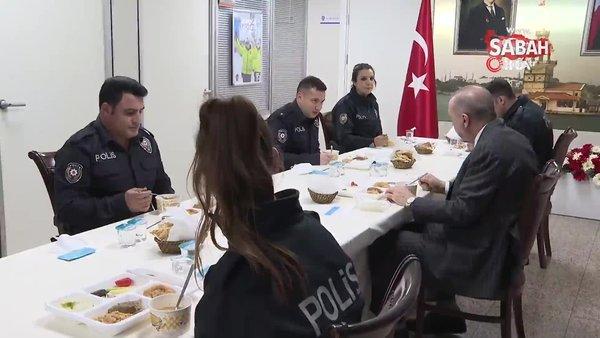 Cumhurbaşkanı Erdoğan'dan Çengelköy Polis Merkezi'ne iftar ziyareti