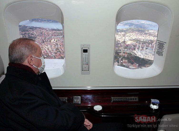 Başkan Erdoğan Çamlıca TV Kulesi'ni inceledi! Avrupa'nın en yükseği...