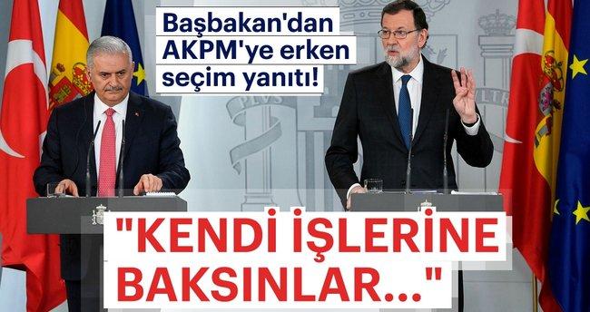 Son dakika: Başbakan Binali Yıldırım'dan AKPM'nin erken seçim açıklamasına sert cevap!