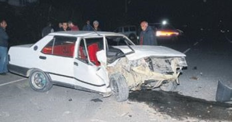 Serik'te kaza: 2 kişi yaralandı