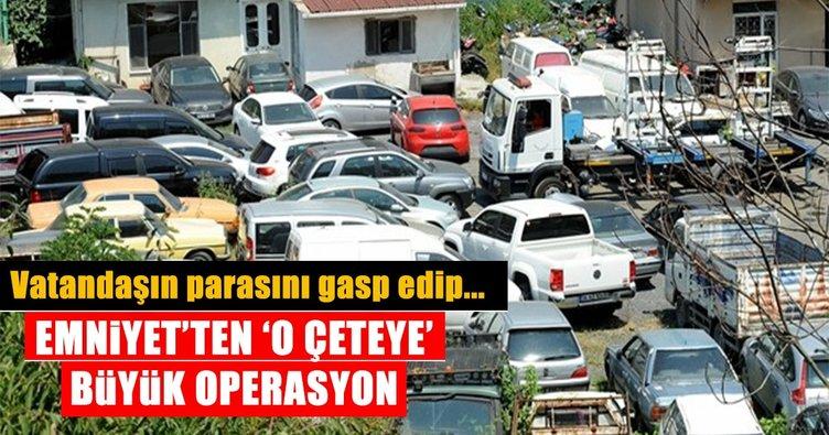 Rehinli ve hacizli araçları sahte belgelerle satanlara operasyon: 45 gözaltı