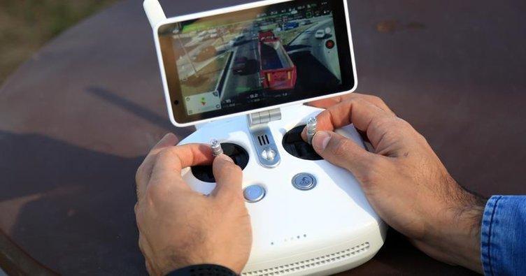 Turizm merkezlerinde 'drone' ile trafik denetimi yapıldı