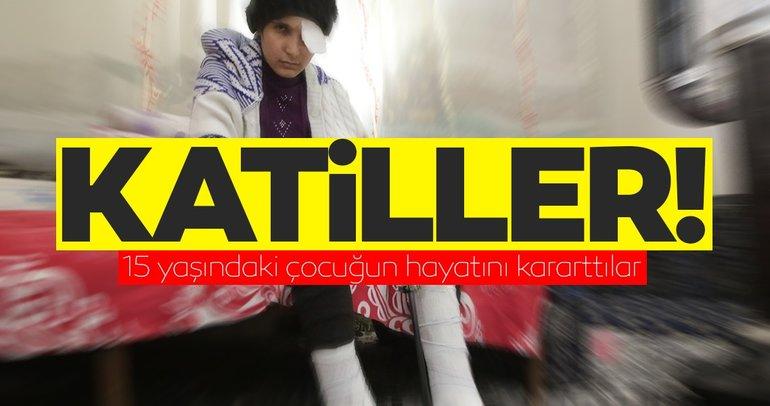 YPG'nin döşediği mayınlar hayatlarını kararttı! 15 yaşındaki Dua Zeki'nin gözü görmüyor, bacakları sakat