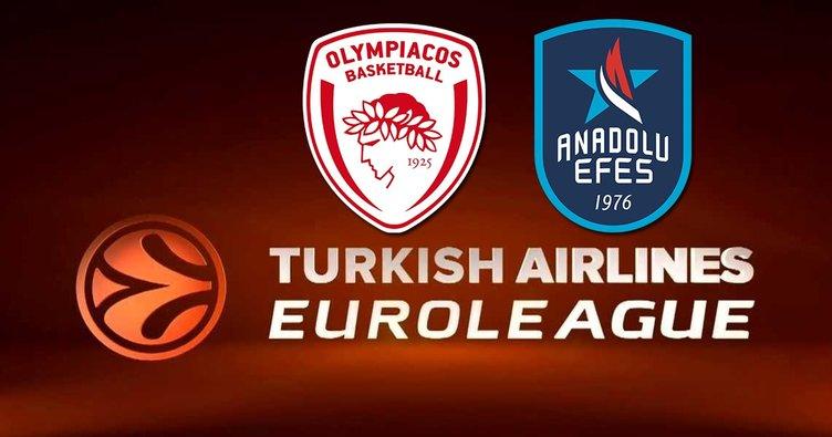 Olympiakos Anadolu Efes basketbol maçı ne zaman, saat kaçta ve hangi kanalda canlı yayınlanacak?
