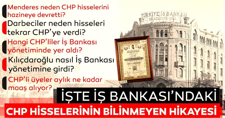 İşte İş Bankası'ndaki CHP hisselerinin bilinmeyen hikayesi!