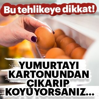 Yumurtaları kartonundan çıkarıp koyuyorsanız...