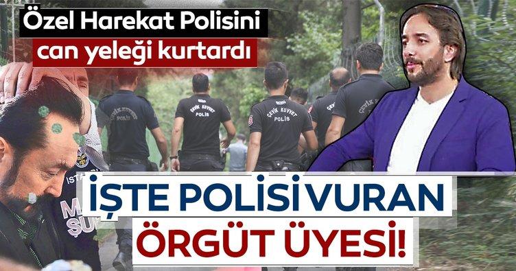 Özel Harekat Polisini can yeleği kurtardı İşte polisi vuran örgüt üyesi!