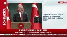 Başkan Erdoğan'dan fındık fiyatları ile ilgili son dakika açıklaması: Yeni fındık alım fiyatı... | Video