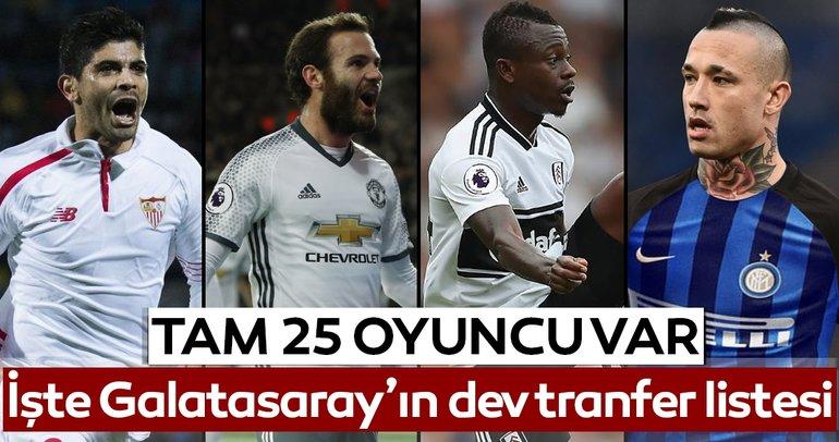 İşte Galatasaray'ın dev transfer listesi! Tam 25 oyuncu var