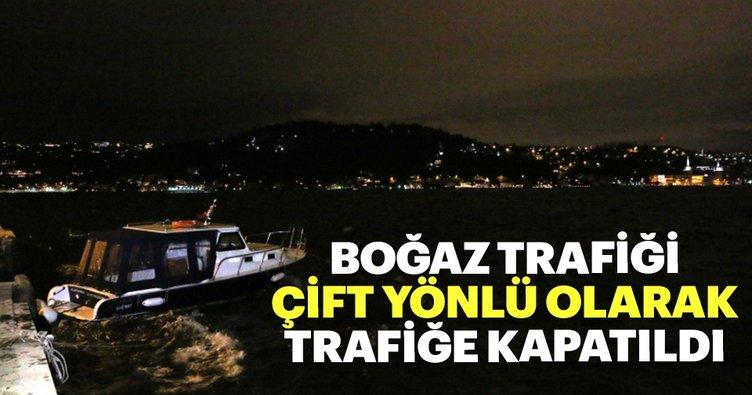 Son dakika: İstanbul Boğazı gemi trafiğine kapatıldı