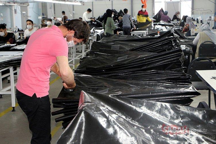Tokat'ta üretiliyor! İtalya, Fransa ve İngiltere'ye ceset torbası...