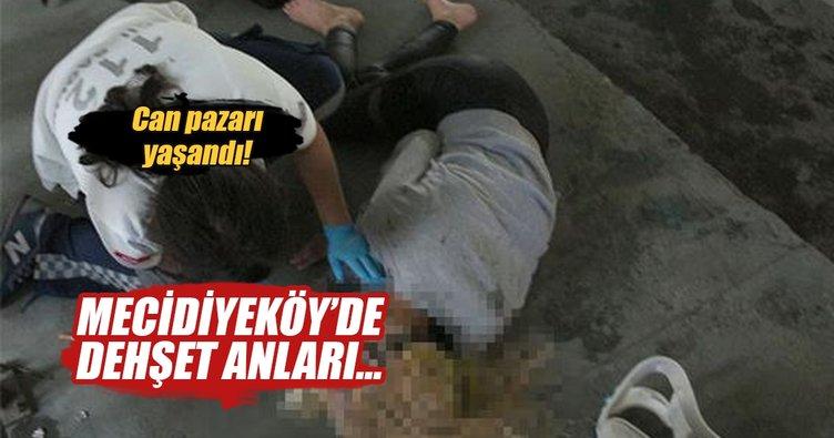 Mecidiyeköy'de kontrolden çıkan araç minibüsle çarpıştı