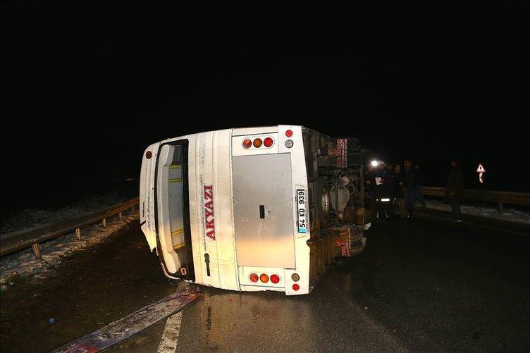 Sakarya'da trafik kazaları: 12 yaralı