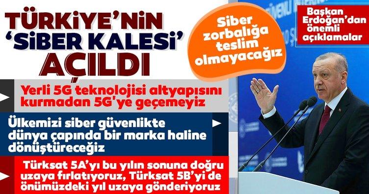 Son dakika: Türkiye'nin 'Siber Kalesi' açıldı! Başkan Erdoğan'dan önemli açıklamalar