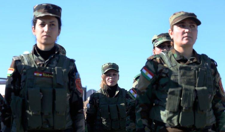 Suriyeli Peşmergeler Esed ve DAEŞ'e karşı eğitim alıyor!