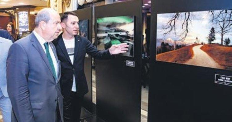 Ödüllü sanatçının fotoğrafları Girne'de