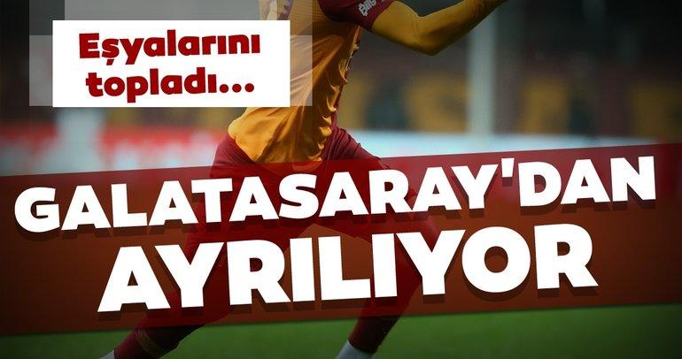 Son dakika Galatasaray transfer haberleri! Eşyalarını topladı Galatasaray'dan ayrılıyor