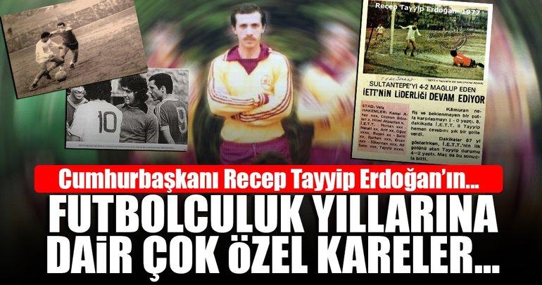 Cumhurbaşkanı Recep Tayyip Erdoğan'ın futbolculuk günleri...
