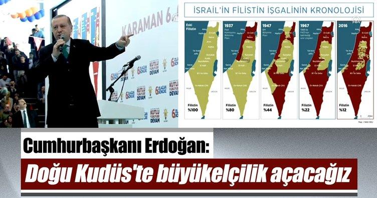 Cumhurbaşkanı Erdoğan: Doğu Kudüs'te büyükelçilik açacağız