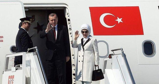 Cumhurbaşkanı Erdoğan Özbekistan'a geldi