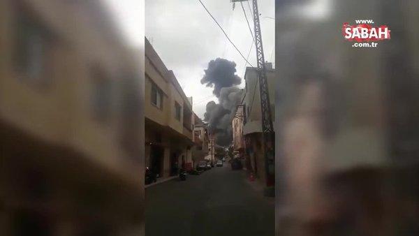 Son dakika: Lübnan'da yeni patlama! İşte ilk görüntüler | Video