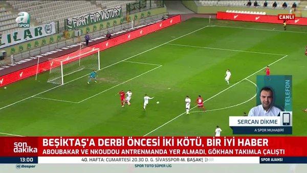 Beşiktaş'ta Aboubakar G.Saray derbisinde oynayacak mı?