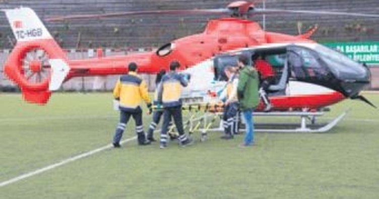 Hava ambulansıyla Ankara'ya getirildi