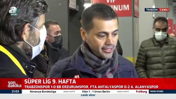 Trabzonspor Erzurumspor maçının ardından Hüseyin Üneş açıklamalarda bulundu