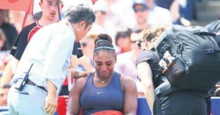 Serena finali yarıda bıraktı gözyaşlarına engel olamadı