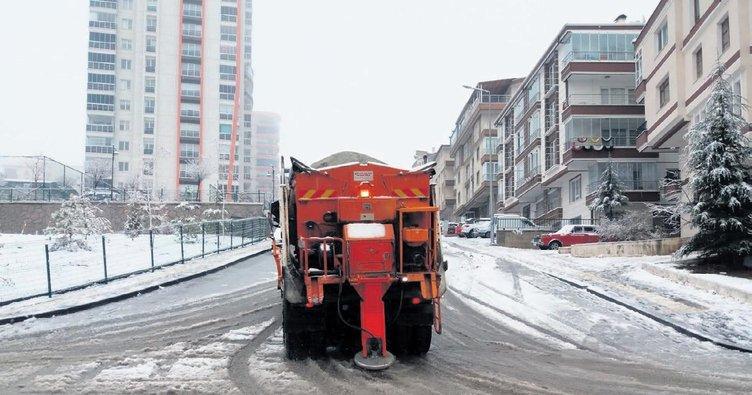 Keçiören belediyesi kar için teyakkuzda