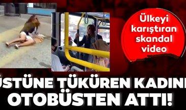 Son Dakika Haberi: Maske takmayan kadın yolcunun üstüne tükürdü! Polis bu skandal videoyu soruşturuyor!