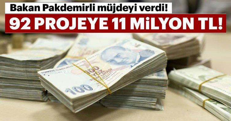 Bakan Pakdemirli: 92 projeye 11 milyon TL destek ödenecek!